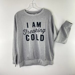 NWT Cupshe 'I Am Freaking Cold' Statement Sweatshirt Women's Size Large